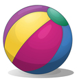 A colorful inflatable beach ball vector image vector image