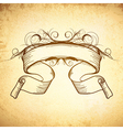 Decorated Scroll Ribbon vector image