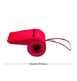 Red Whistle of The Republic of Albania vector image