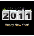 New Year Counter With Snowman vector image vector image