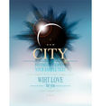 futuristic background with city and eclipse vector image vector image