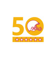 50 Pro Football Championship Sunday Helmet vector image