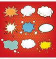 Set of Comics Bubbles in Pop Art Style vector image vector image