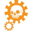 Gear Skull C vector image vector image