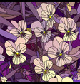 flowers pale yellow violet pansy vector image