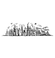 industrial cityscape sketch vector image