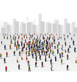large group of people over the city business vector image