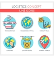 Logistic and Transportation vector image