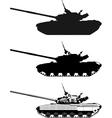 modern heavy tank vector image