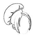 Isolated female chef head design vector image