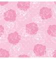 Seamless floral pink and white roses pattern vector image