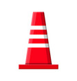 traffic safety rubber road cone vector image