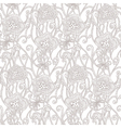 Seamless hand drawn pattern with flowers vector image