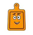 Smiling wooden kitchen chopping board vector image