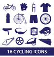 cycling icon set eps10 vector image