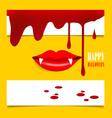 Happy Halloween design background with vampire vector image vector image