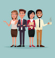 color background full body set of executives vector image