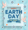 earth day cute background with doves vector image