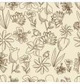 Flowers seamless retro vector image