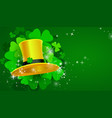 green st patricks day background with clover vector image
