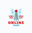 online radio abstract sign symbol or logo vector image