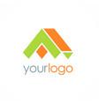 realty 3d shape home logo vector image