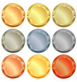 set of medals from various types of metal gold vector image