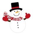 snowman character cute christmas vector image