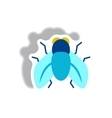 stylish icon in paper sticker style fly insect vector image