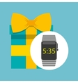 smart watch technology with gift box vector image