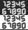 numbers set isometric geometric shape black and vector image