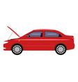 cartoon car with an open hood vector image vector image