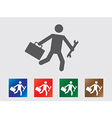 People late for work icons vector image vector image