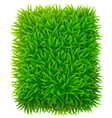 Grassy rectangle vector image