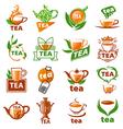 large set of logos tea vector image