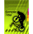 bmx poster vector image vector image