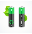 Recycled Battery Eco Concept vector image