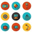 flat icons photo vector image