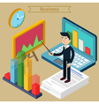 Business Presentation Isometric Concept vector image
