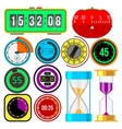 Clock and watches icons set vector image