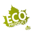 Eco green leaf logo vector image