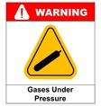 Gases under pressure sign symbol vector image