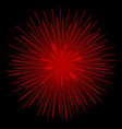 red realistic fireworks vector image