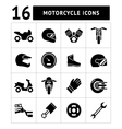 Set icons of motorcycle vector image