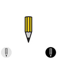Simple pencil icon Black stroke style vector image