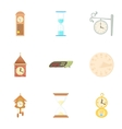Chronometer icons set cartoon style vector image