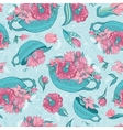 Spring Turquoise Pattern vector image vector image