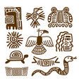 tribal indian patterns or mexican symbols vector image