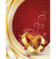 Wedding rings and floral vector image
