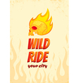 Wild ride vector image